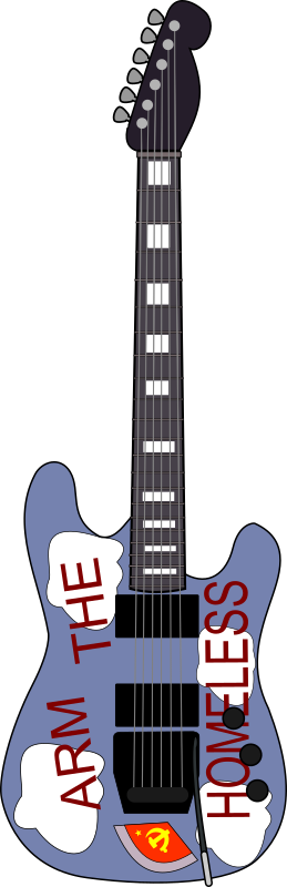 Arm The Homeless by Piemaster - A svg of Audsioslave guitarist Tom Morello's custom guitar