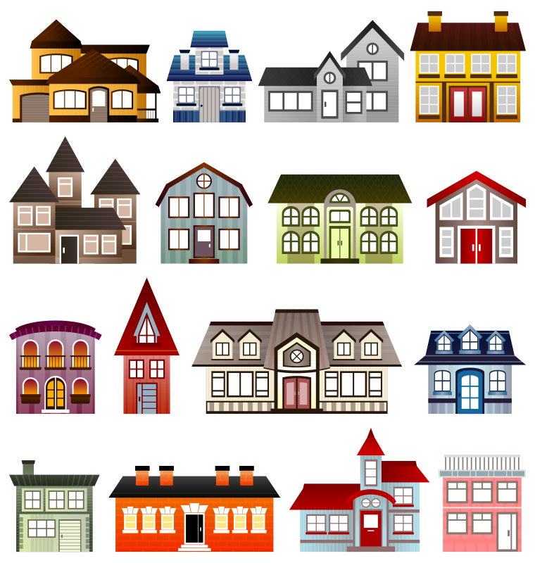 Simple Houses by Viscious-Speed - set of houses
