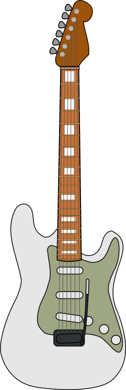 Fender Stratocaster by Piemaster - A svg of a Fender Stratocaster