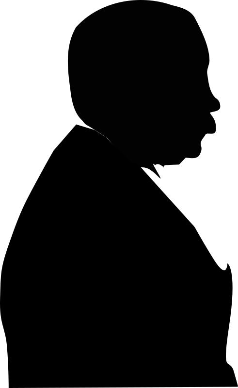 Man from side by StefanvonHalenbach - Alfred Hitchcock silhouette.