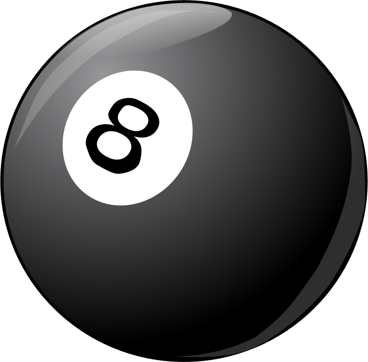 8Ball noShadow by rduris - billiard ball  without shadow