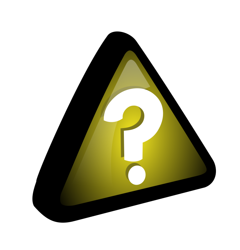 Yellow - Query Icon by ryanlerch - an icon using the triangle shape in the icons by molumen, but using a question mark instead of a exclamation mark.