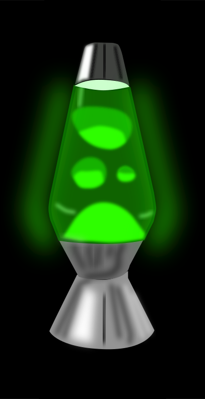 Lava-lamp (Glowing green) by mystica - I have create a lava - lamp, but i´m not shore about the english word for it... send me a mail if it is not correct...  Enjoy!   :-)