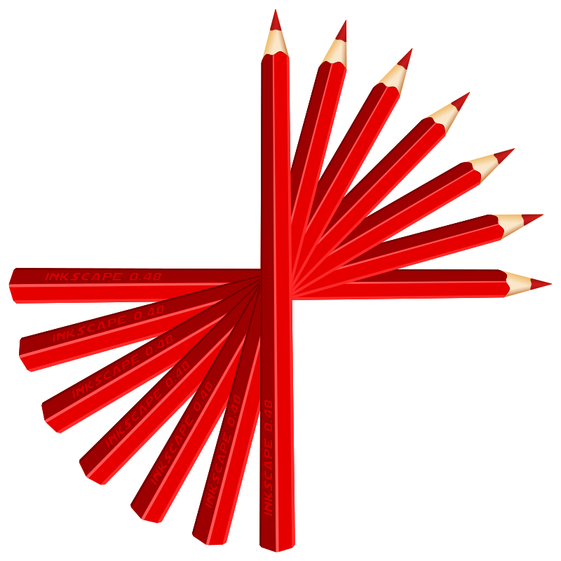 red pencils by GusEinstein