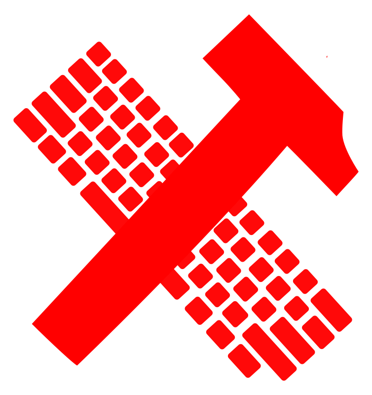 hammer and keyboard - proletariat by worker - hammer and keyboard
