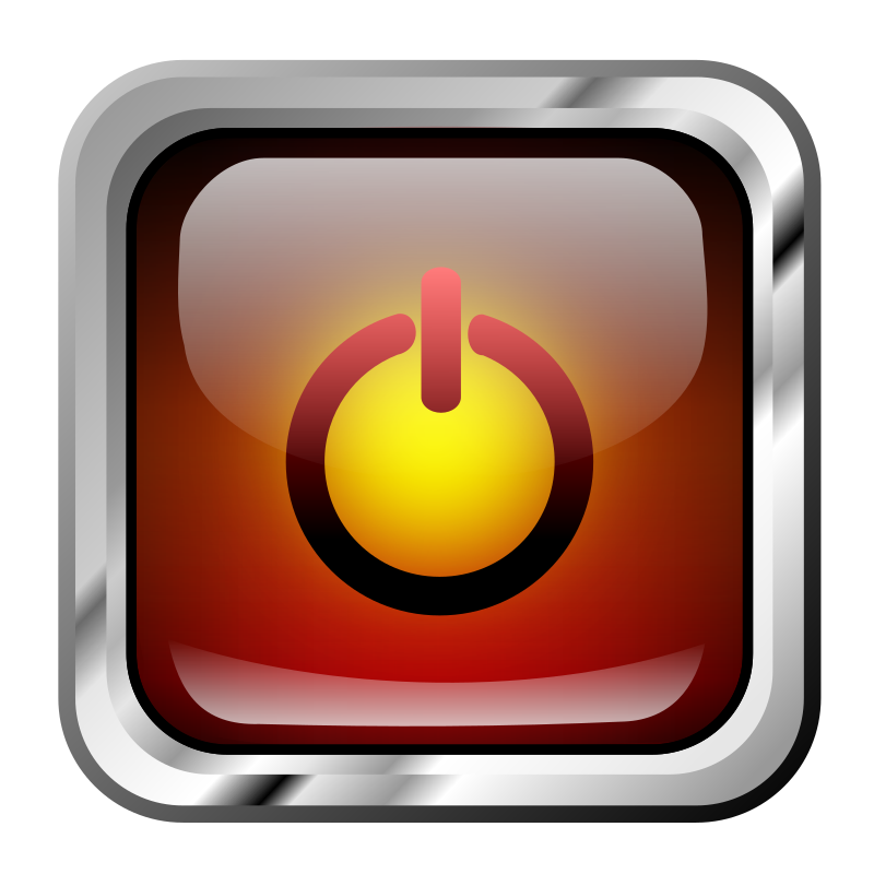 Clipart Icon Red Multimedia Power