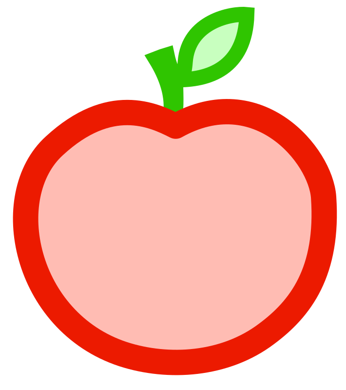 clipart apple pages - photo #39
