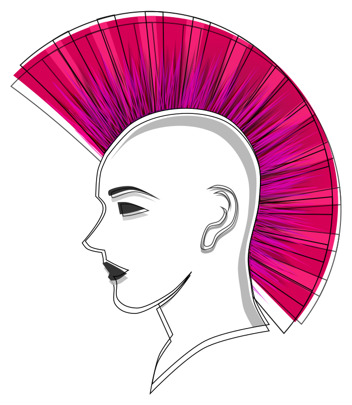 Stylised Punk Pink Mohawk by Viscious-Speed -