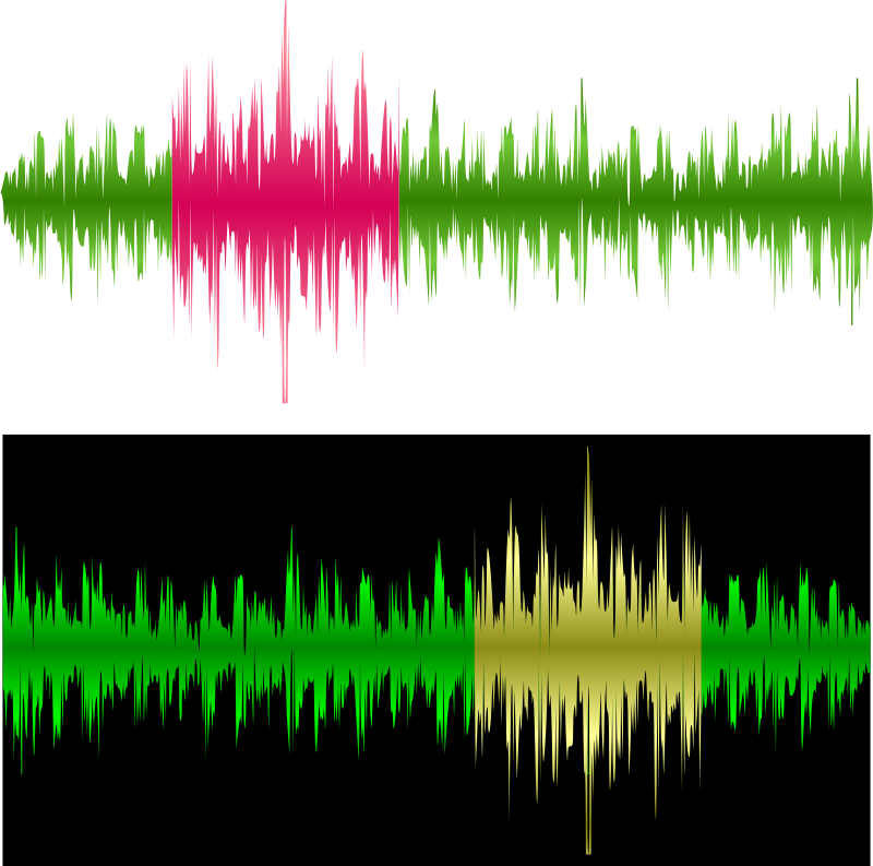 Two waveforms by boobaloo - Two simple waveforms with selected region. I've used it in business card design.