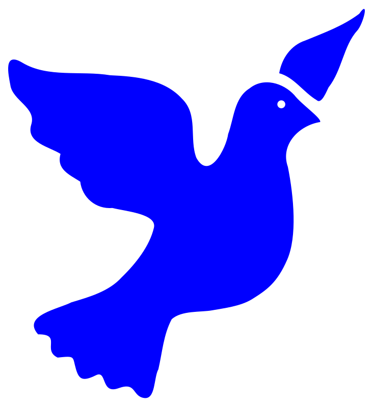 peace dove by worker - silhouette of a dove