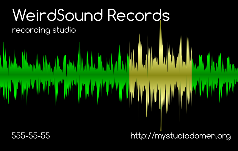 Black businesscard for recording studio by boobaloo