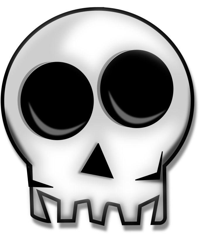 Feraliminal Skull Remix by Merlin2525 - A remix of the neat clip art by Feraliminal. The original file is feraliminal_skull.svg   Added a shadow and some shading. NOTE: THE SVG IS CREATED CORRECTLY, BUT PLEASE USE INKSCAPE TO CREATE A PNG VERSION. FOR SOME ODD REASON IT DOES NOT GENERATE PROPERLY HERE.  Install Inkscape from http://inkscape.org  Start Inkscape. On the menu bar, select [File > Open]  select the SVG file you downloaded into Inkscape.  On the Menu Bar [File > Export Bitmap]  Choose the file format and set the dots per inch (dpi). It's that easy!
