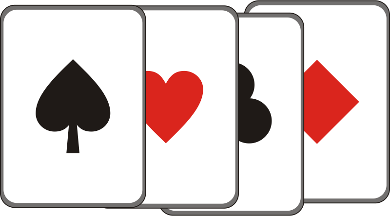 Playing Card by zorro - Spielkarte Ass Pik Karo Herz Kreuz Spade Hearts Diamonds Clubs, clip art, clipart,