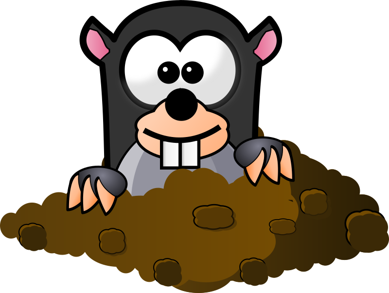 Cartoon Mole by Magnesus - This is a mole I made for my Android game Memory Owl HD.