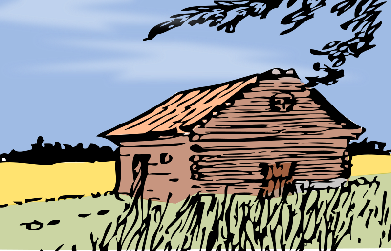 Autumn barn by Eggib - A barn in autumn. Colored remix (Frederic Remington /Johnny_automatic)