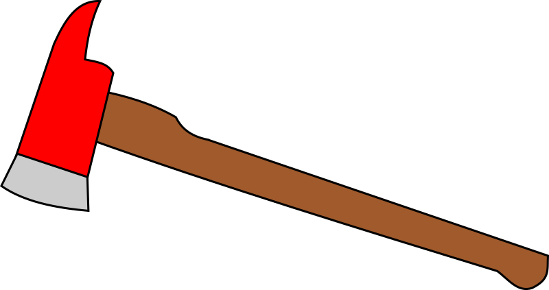 Fire axe by JollyRager - A simple symbolic clipart of a fire axe