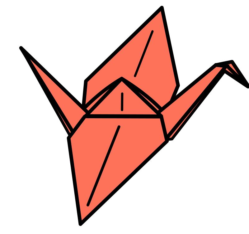 すべての折り紙 youtube 折り紙 : Origami Crane Clip Art