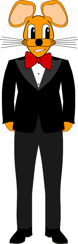 Mouse in a Tuxedo by Andrew_R_Thomas - A simple 2D mouse in a tuxedo