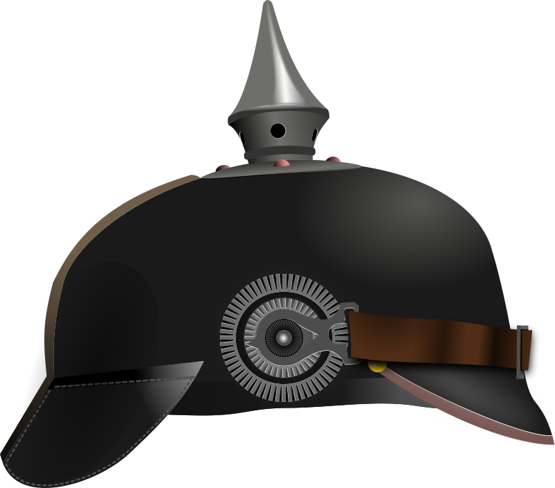 Pickelhaube by conte magnus - A spiked helmet worn in the 19th and 20th centuries by German military.