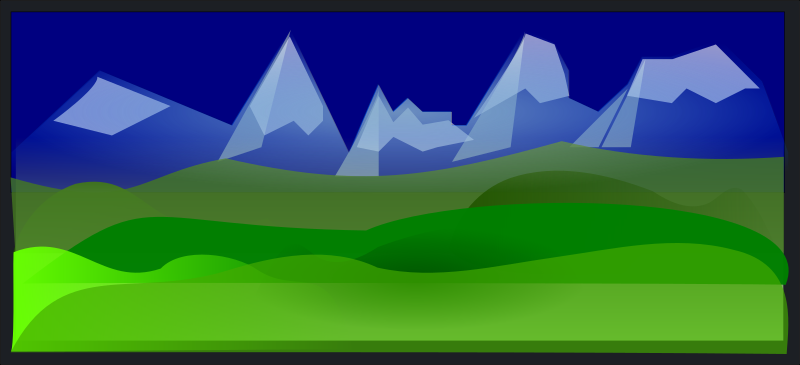 Hills and Peaks by cibo00 - This is an abstracted landscape perspective on hills and peaks, completely hidden from any human traces.