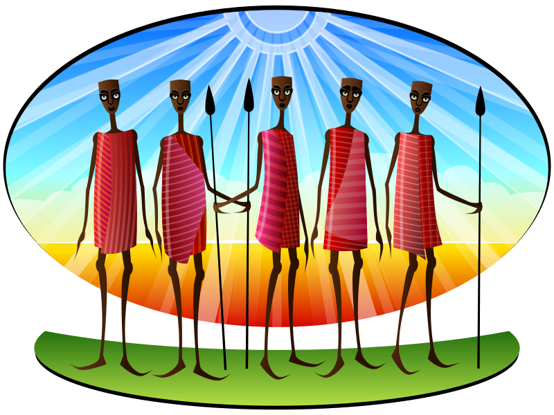 Stylized Masai by Viscious-Speed - group of masai