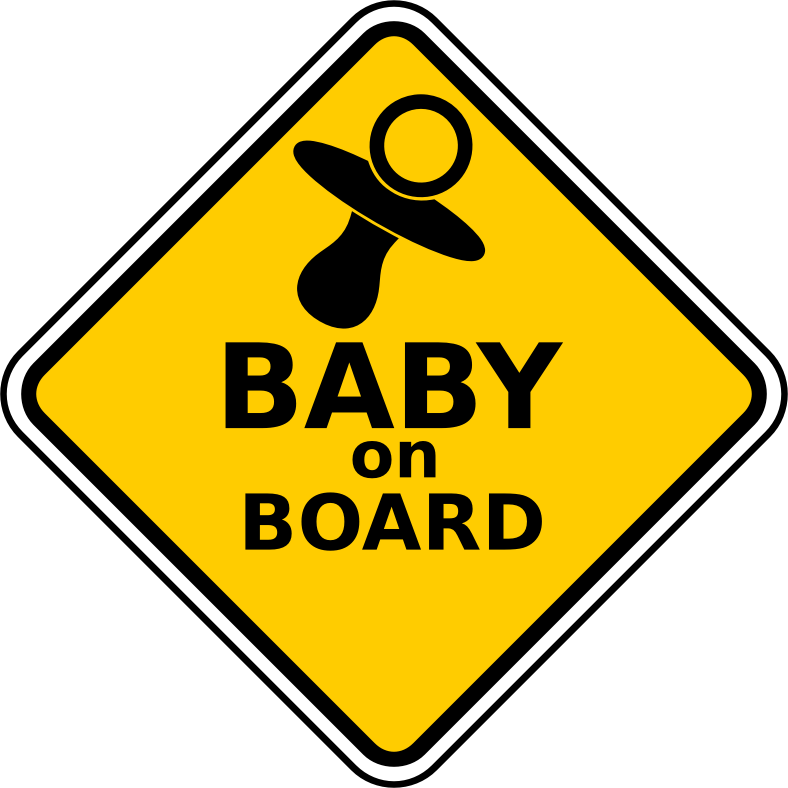Baby On Board by Robert Ingil - warning sign Baby on board