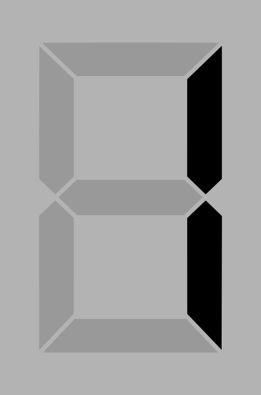 Seven segment display gray 1 by alex8664 - A simple seven segment display
