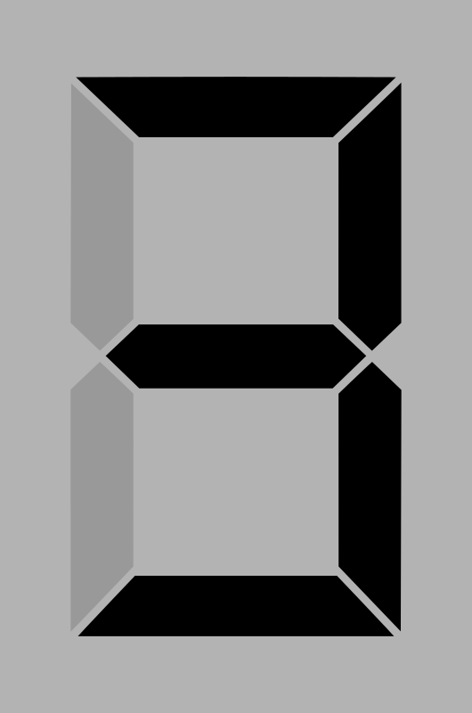 Seven segment display gray 3 by alex8664 - A simple seven segment display
