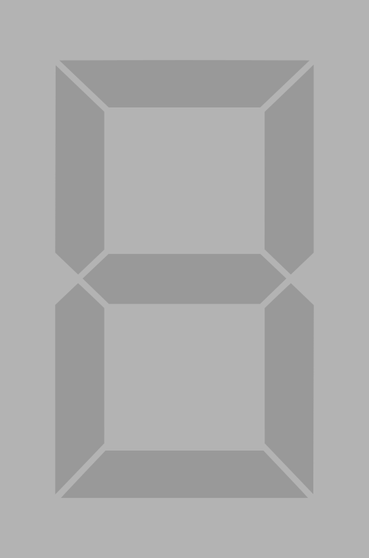 Seven segment display gray off by alex8664 - A simple seven segment display