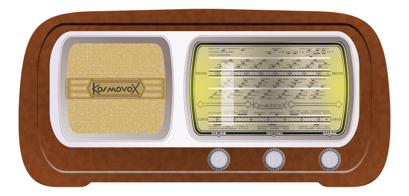 Radio by conte magnus - A vintage short-wave, medium-wave radio