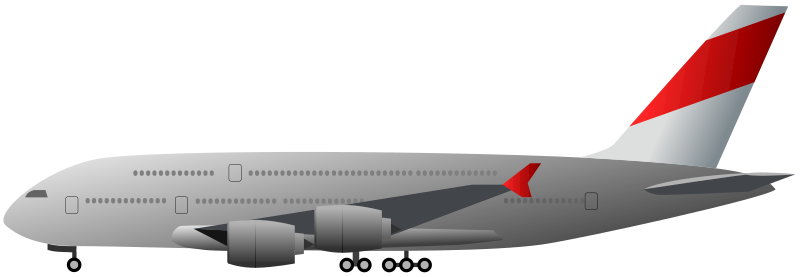 airliner by sagism - Airbus A380 in profile