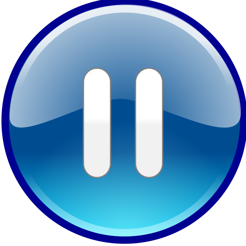 Windows Media Player Pause Button by mightyman - Windows Media Center, Windows Media Player, Windows Media Player Button, audio, clip art, clipart, pause, sound, video,