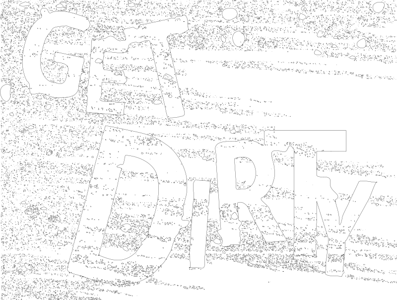 Get Dirty Example Dirty Text by rejon - This is for a collection of images with dirt and dust.