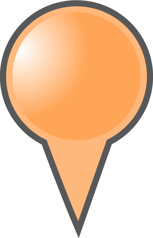 Orange Map Marker by mightyman