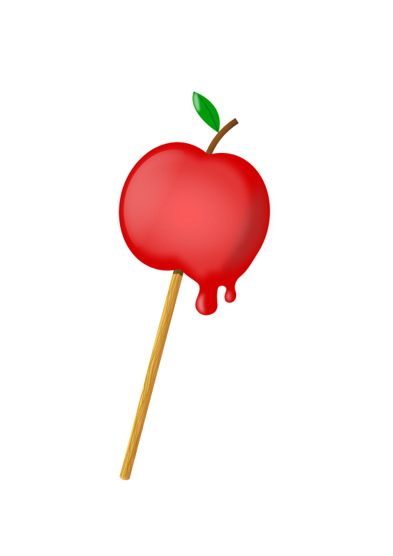 sugar coated apple by kove - a sugar coated apple made with inkscape