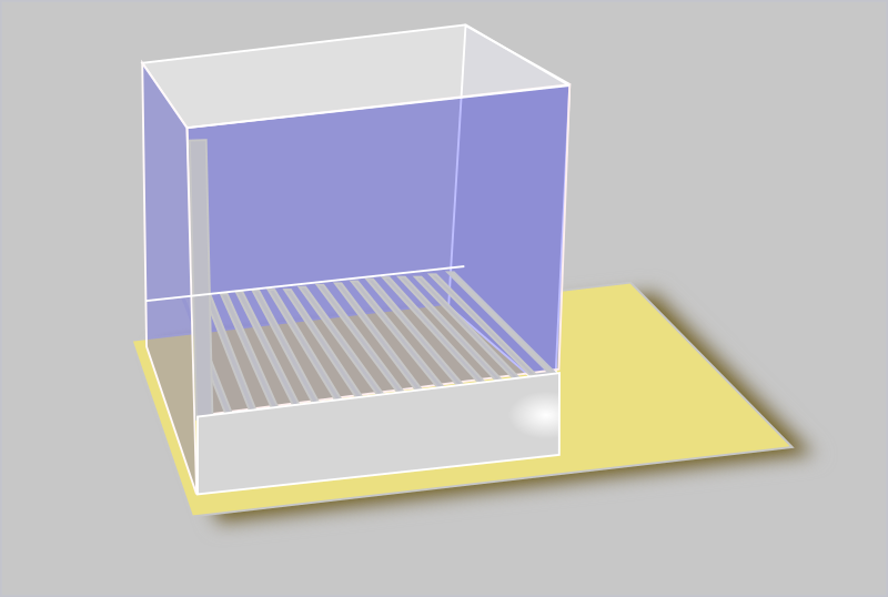 Operant Conditioning cage by harmonic - A standard operant conditioning cage/chamber used in animal research