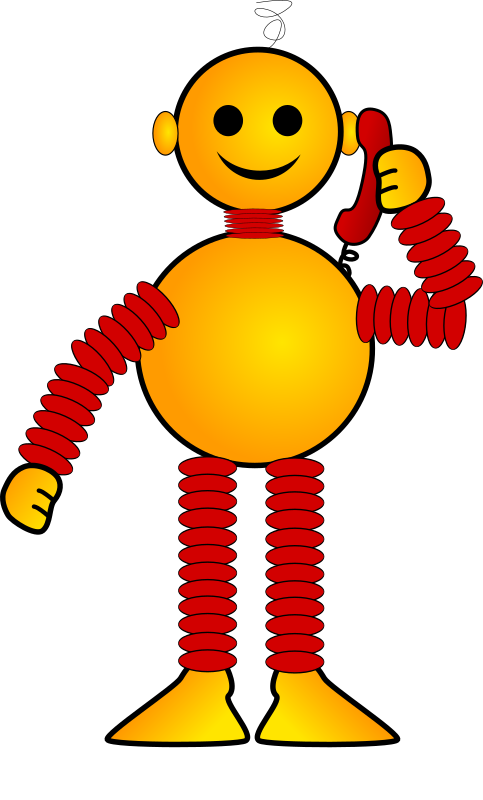 Robot called by Fabuio - A smiling male robot who calls on the phon. In this remix I have changed the female feet and moved the head.
