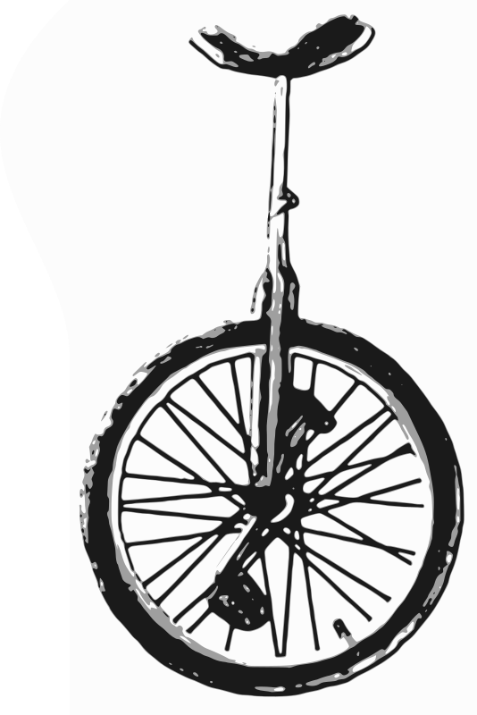 clipart unicycle