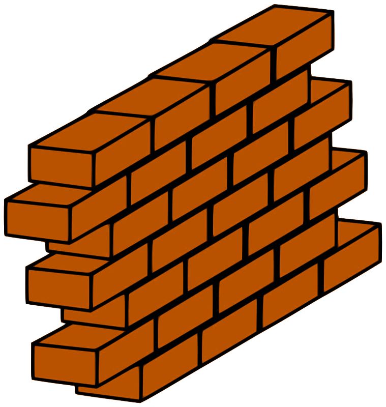 Red brick wall by ensarija - Wall from red bricks