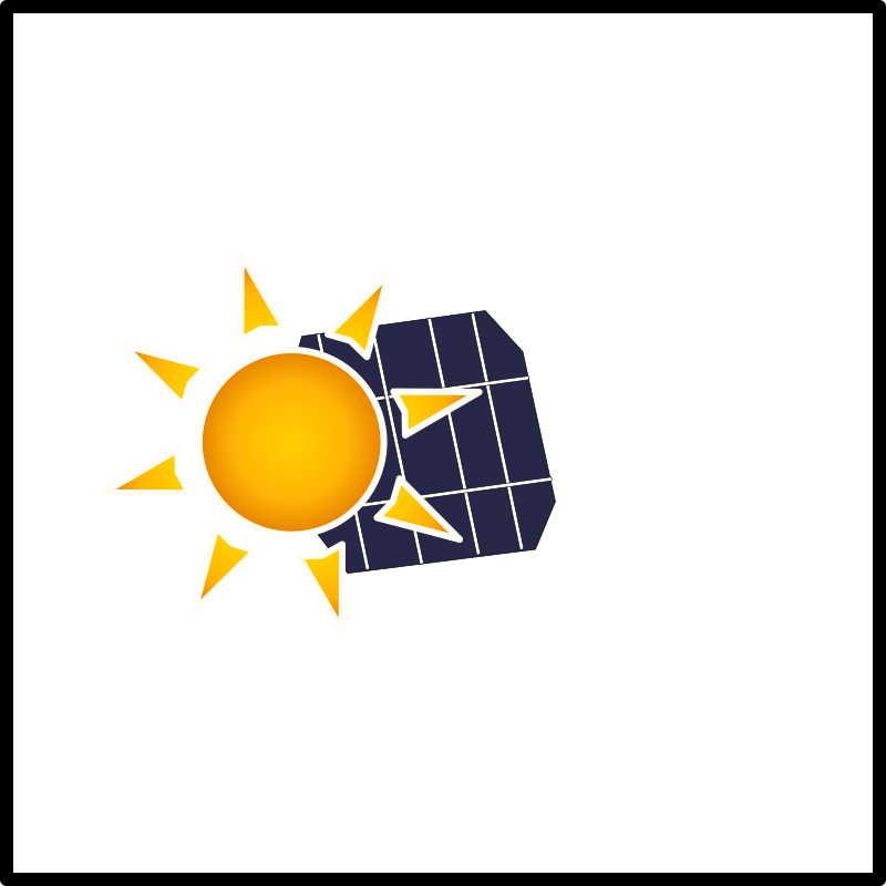 solar panel in the sun by boirac - remixed from ernes and my inkscape drawn solar cell.  Created for renooble.com