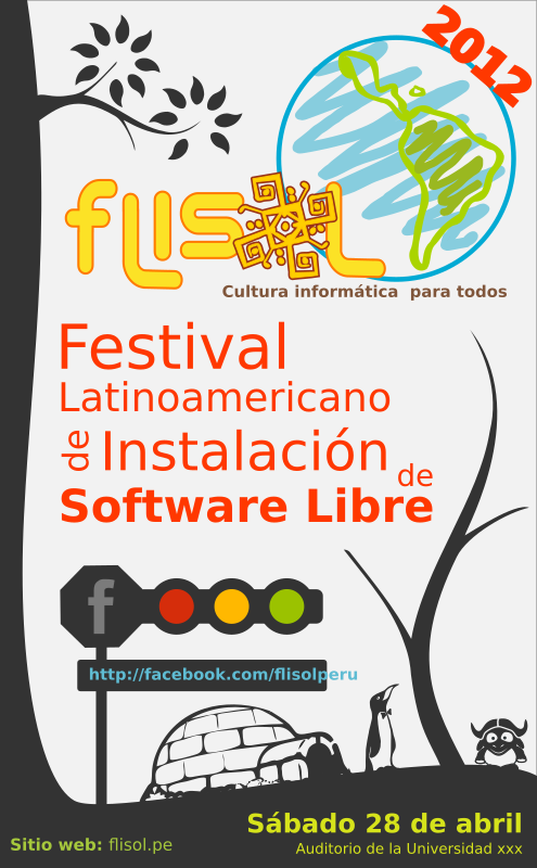 FLISOL 2012 PERU PROPUESTA by cfoch - Poster for the FLISOL 2012 in Perú.