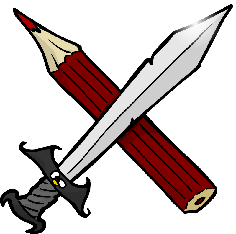 Sword and pencil by Odysseus -
