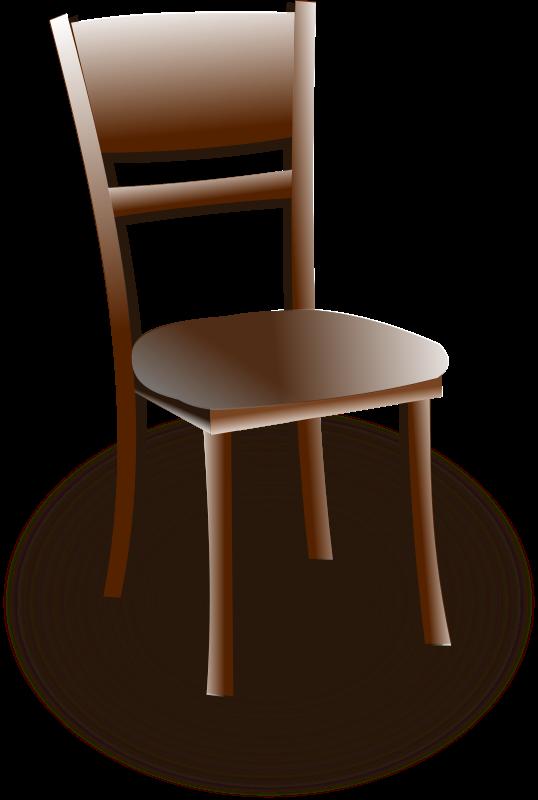Wooden chair Vector Clip Art EPS Images 5075 Wooden