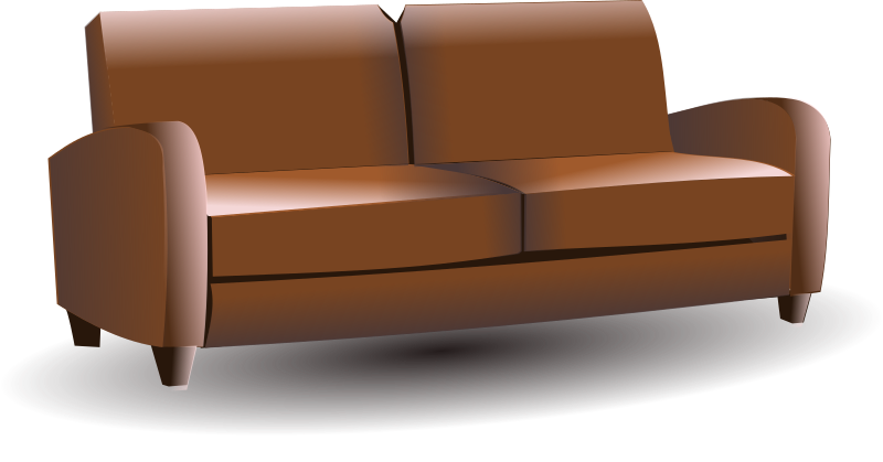 sofa by hatalar205 - A brown sofa clipart