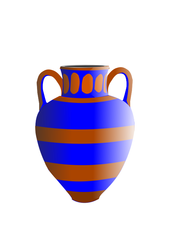 old fashioned vase blue and brown by hatalar205 - A old fashinoed blue and brown vase