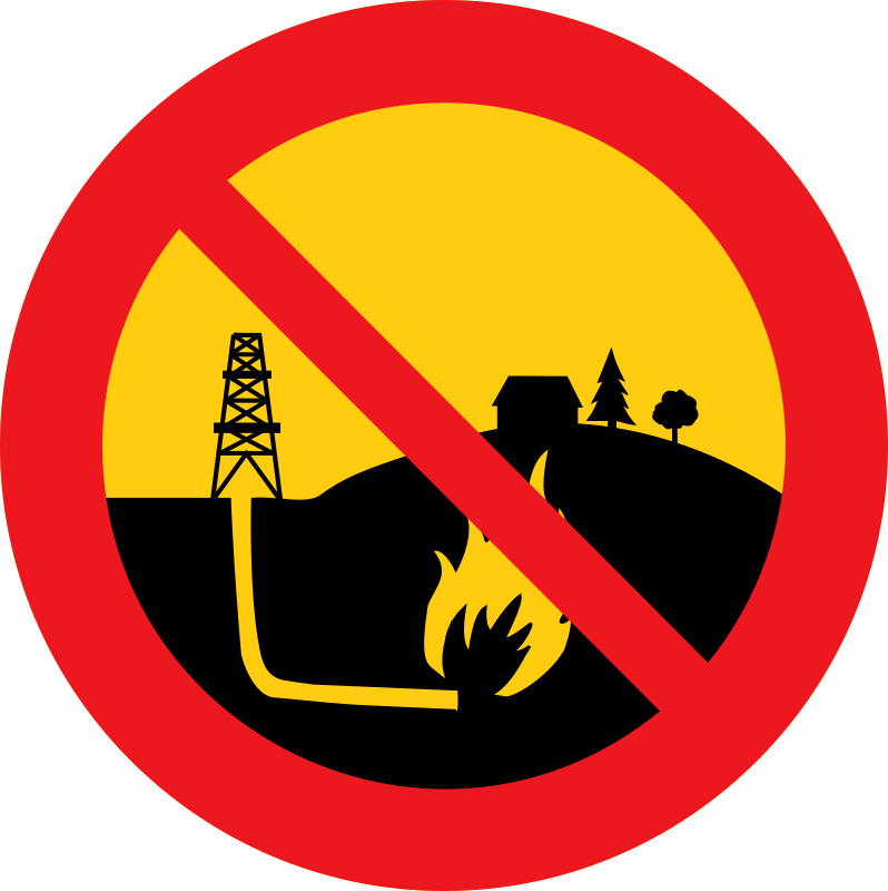 No shale gas by dominiquechappard - Like a road sign