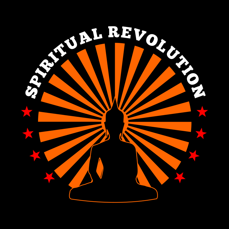 "Spiritual Revolution by cliparteles - Using ""Sitting Buddha Silhouette"" by kattekrab."