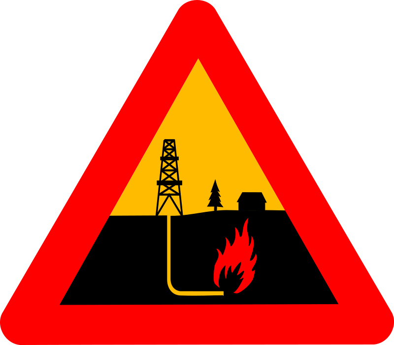 Warning shale gas by dominiquechappard - warning sign for shale gas