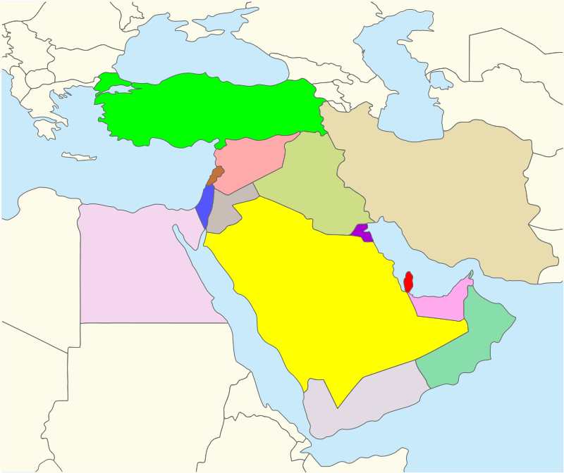 Middle East Map by Ronit