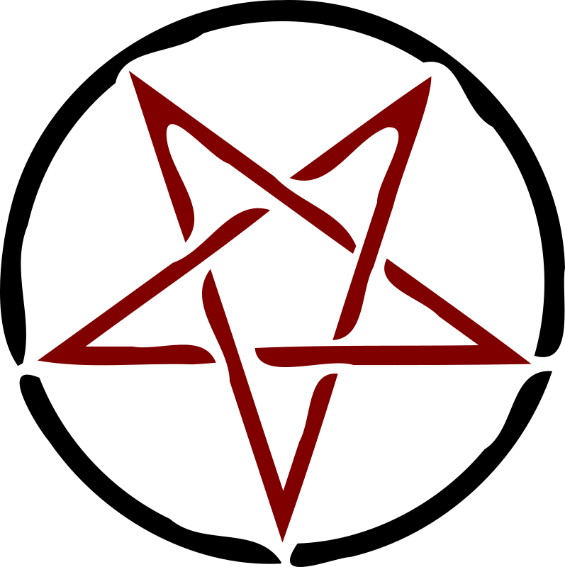 red pentagram by dynnamitt - cool trace of star